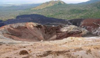 The crater of the Cerro Negro Volcano.