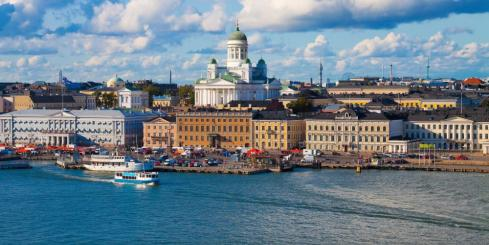 A view of Helsinki, the largest city in Finland.