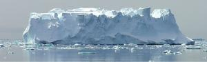 An enormous iceberg off the coast of Antarctica