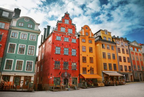 Enjoy the unique and colorful architecture of Stockholm