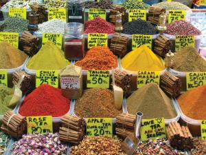 Spices found in markets around the Black Sea