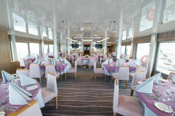 Enjoy fine dining aboard the Variety Voyager