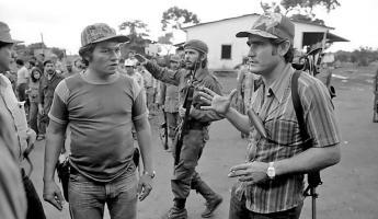 Eden Pastora (striped shirt) was the Comandante Cero. He was a Sandinista Guerilla and then a Contra Guerilla. He is still alive and well known in Nicaragua.