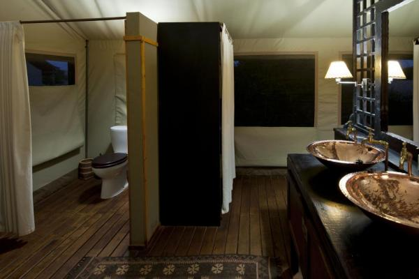 Desert Rhino Camp's uniquely designed bathroom.