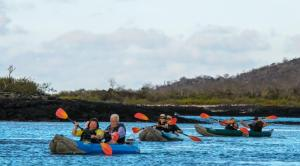 Take a kayaking tour of the Galapagos.
