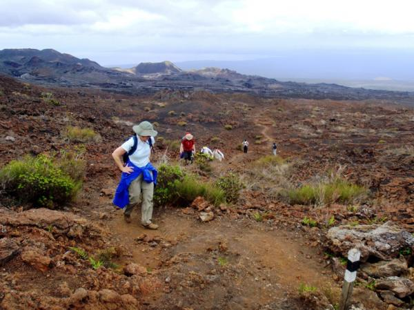 Enjoy a invigorating hike through the unique Galapagos landscape.