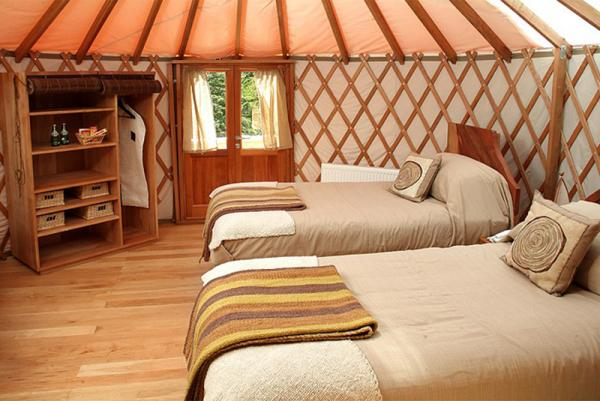 The yurts are comfortable, spacious, and a fun way to camp.