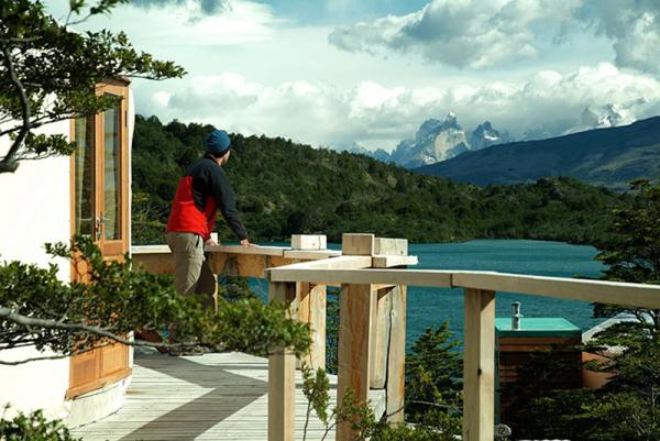 An incredible view of Torres del Paine makes this camp an ideal place to stay.
