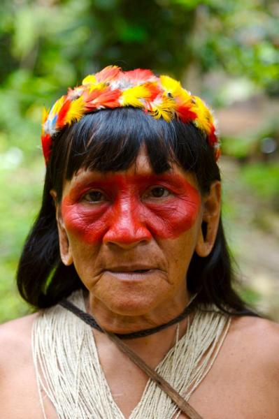 A native woman of the Amazon