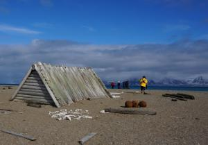 Explore the huts of past Arctic dwellers