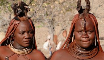 The traditional style headgear for this tribe in Africa