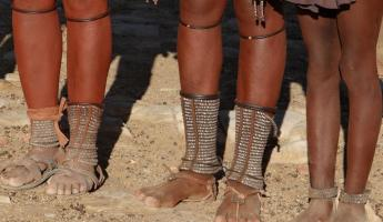 Traditional footwear of the local people of Africa