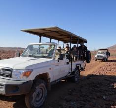 The safari vehicle used for wildlife viewing