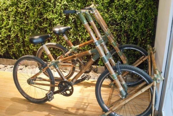 Take a ride on these bamboo cycles.