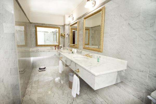 The luxurious bathrooms at the Hotel DeVille