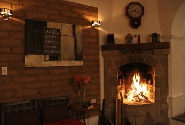 Enjoy the warm fire in the main room