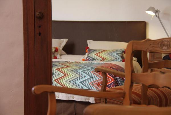 One of the comfortable rooms at the Hotel Boutique El Cortijo