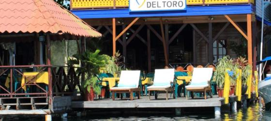The Bocas Del Toro sits on the water