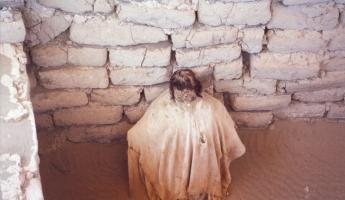 A mummy in traditional burial cloth