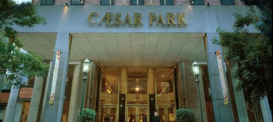 The entrance of the Hotel Caesar Park