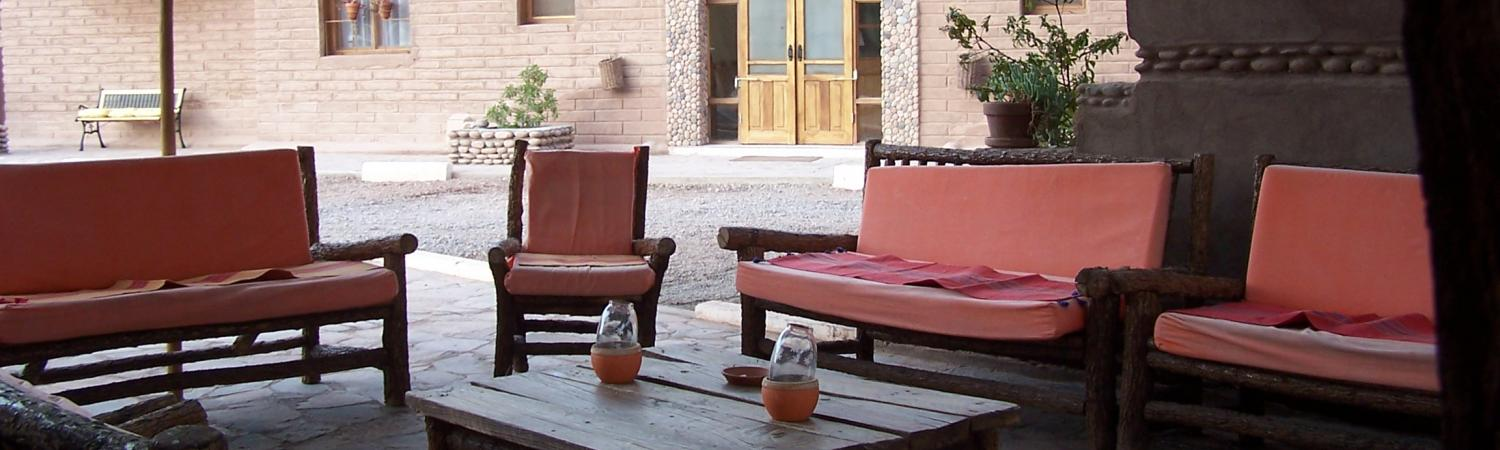 Outdoor seating at the Hotel Casa Don Tomas