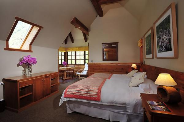 Spacious rooms at the Hotel Petrohue are comfortable and welcoming