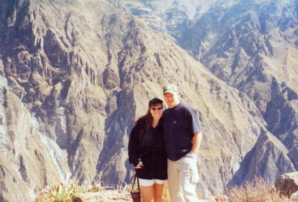 Pausing at a Colca Canyon viewpoint