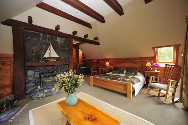 The large suite with a fireplace will make for a memorable stay