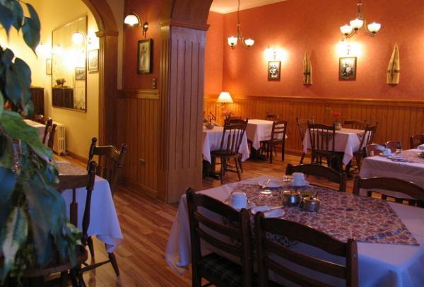Enjoy great food in the dining room