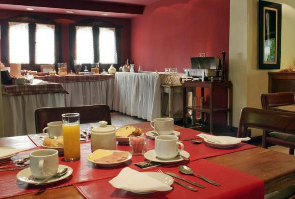 A delicious breakfast awaits in the dining area.