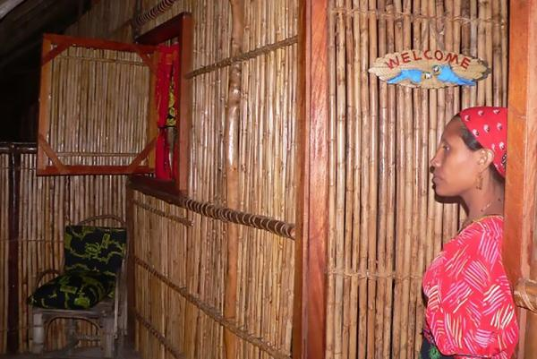 Bamboo huts make for a unique experience