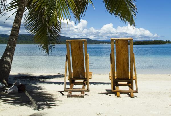 Soak up the sun on the pristine beaches at the Yandup Island Lodge