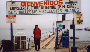 Ready to board a boat for Islas Ballestas