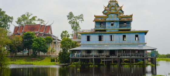 Beautiful architecture in Tonle Sap