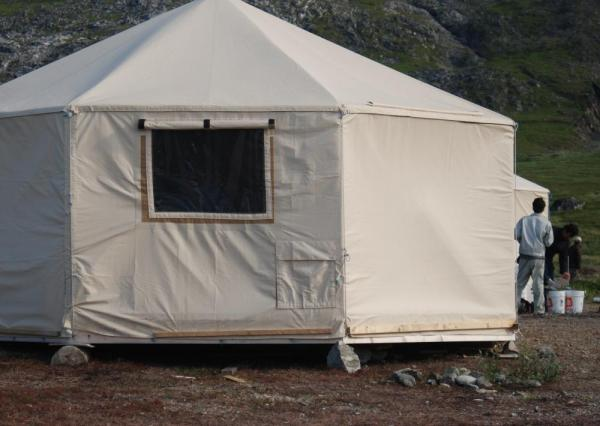 Relax in your yurt at Torngat Base Camp