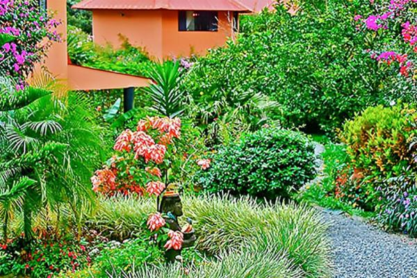 The gardens at Boquete Garden Inn are great for a stroll