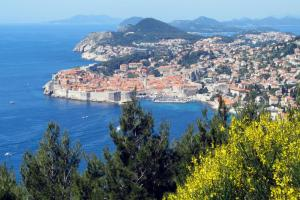 View the beautiful port of Dubrovnik from above