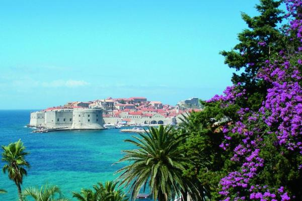 Historic Dubrovnik sits along the azure Mediterranean Sea