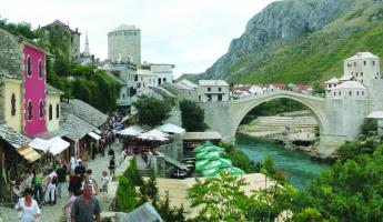 History and nature come together in Mostar.