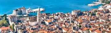 Brilliant colors await you in the port city of Split