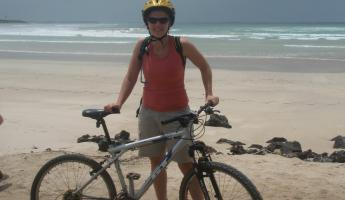 biking on Isabela