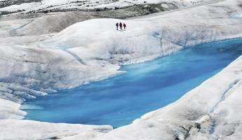 Explore the magnificent blue hues of an Alaskan glacier