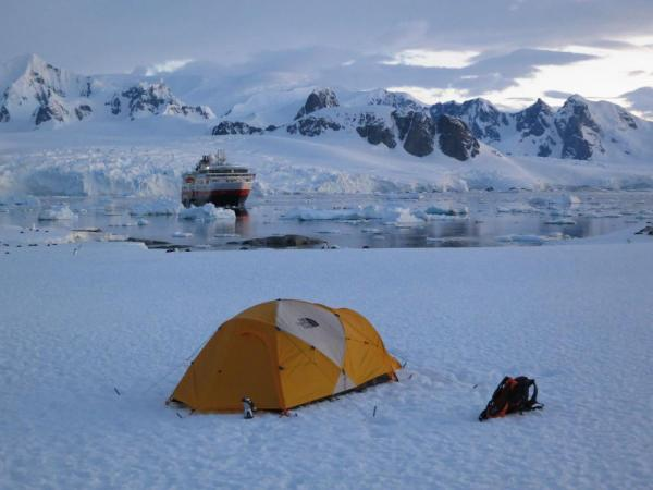 Camp on the seventh continent as you sail on the MS Fram