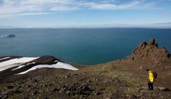 Hike along the rugged Arctic hills.