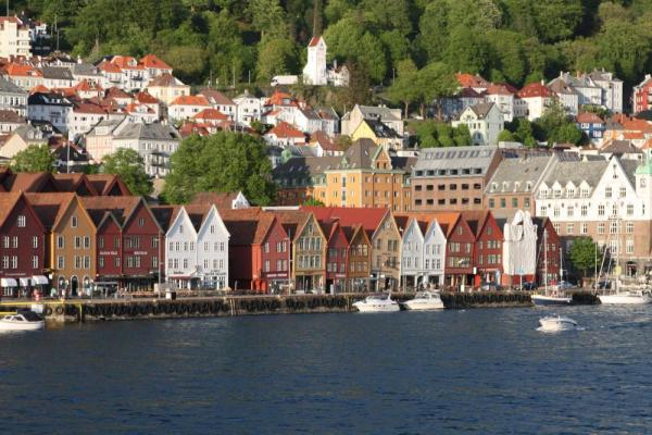 View the colorful houses of Bergen