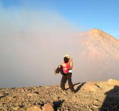 Engaged on top of Telica volcano! Janani said YES!