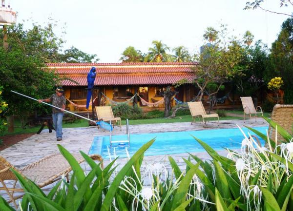 Take a dip in the pool at Araras EcoLodge