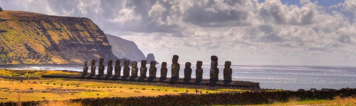 Easter Island moai view