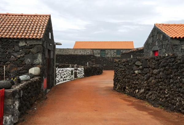 Typical streets found in the Azores island chain