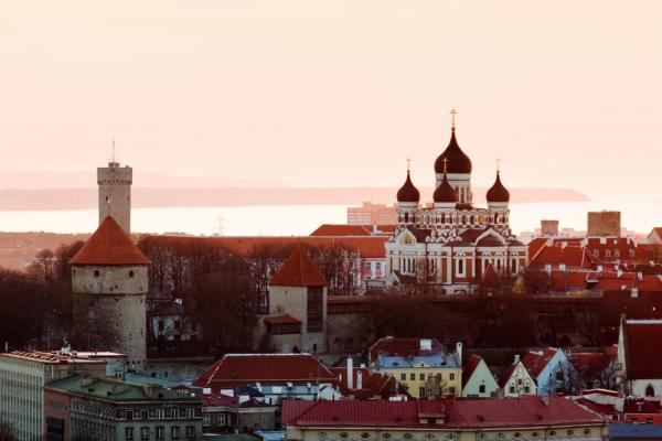 The beautiful acrhitecture of Tallinn, Estonia